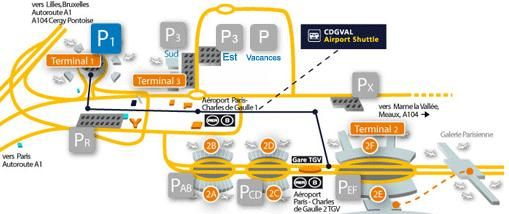 parking P1 terminal 1 Roissy CDG