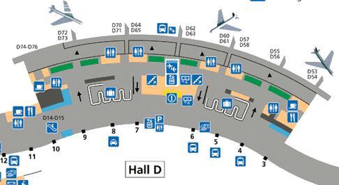 plan terminal 2D Roissy CDG
